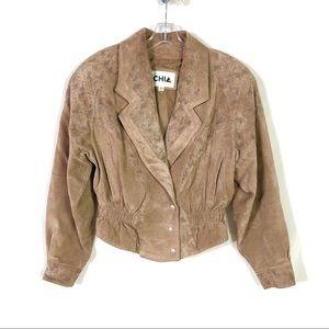 Vintage Chia Leather Jacket